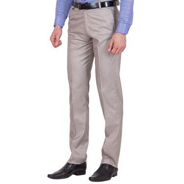 Tiger Grid Cotton Formal Trouser For Men_Md002 - Grey