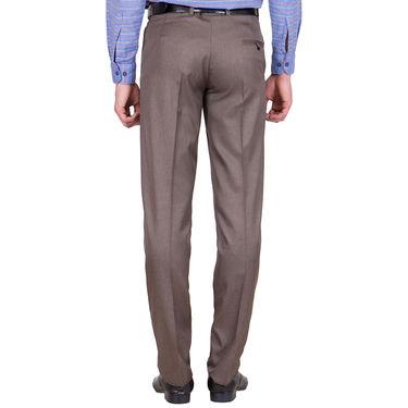 Tiger Grid Cotton Formal Trouser For Men_Md004 - Brown