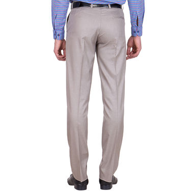 Tiger Grid Pack of 2 Cotton Formal Trouser For Men_Md009
