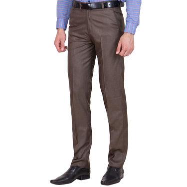 Tiger Grid Pack of 2 Cotton Formal Trouser For Men_Md010