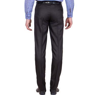 Tiger Grid Pack of 2 Cotton Formal Trouser For Men_Md013