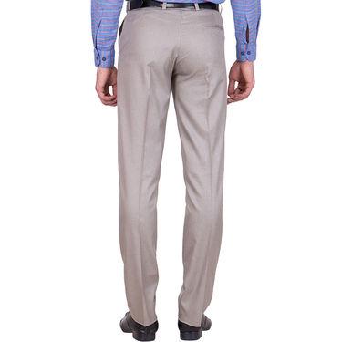 Tiger Grid Pack of 2 Cotton Formal Trouser For Men_Md021