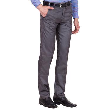 Tiger Grid Pack of 2 Cotton Formal Trouser For Men_Md029