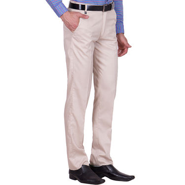 Tiger Grid Pack of 3 Cotton Formal Trouser For Men_Md047