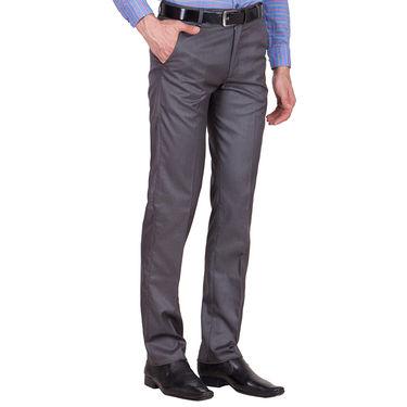 Tiger Grid Pack of 3 Cotton Formal Trouser For Men_Md051