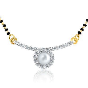 Mahi CZ & Pearl Gold Plated Mangalsutra Set_Nl1101870g