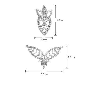 Mahi CZ Rhodium Plated Mangalsutra Set_Nl1101871r