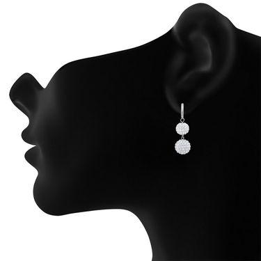 Oviya Rhodium Plated Immortal Beauty Necklace Set_NL2103107R