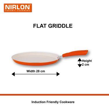 Nirlon  4 Layer Ceramic Induction Dosa Tawa 28 cm_NR48816