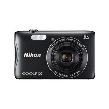 Nikon COOLPIX S3700 Compact Digital Camera - Black