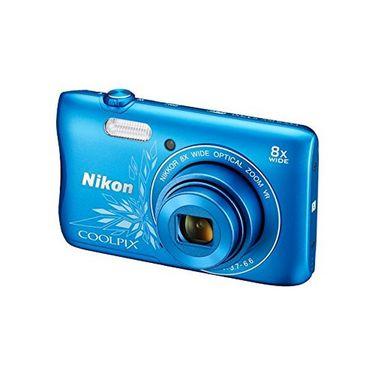 Nikon COOLPIX S3700 Compact Digital Camera - Decorative Blue