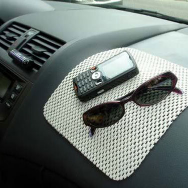 Combo Of Car Accessories + Anti Slip mat + Dvd Visor + Blind Spot Mirror + Aux Cable + Hanging Car air freshner