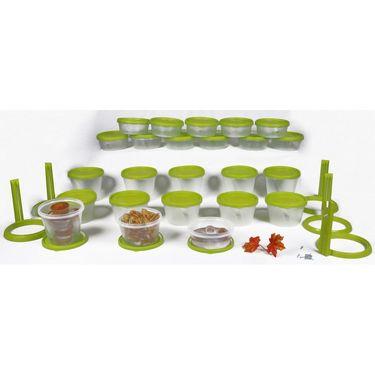 Kitchen Duniya Nesterware Food Storage Container 70 Peices-Trendy Green