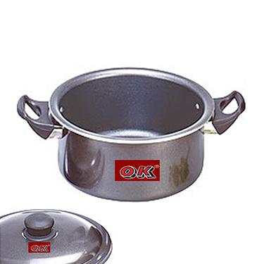 OK Non-Stick Stew Pan with Lid-STP4 - Black