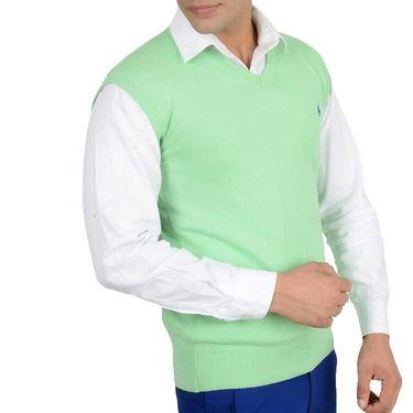 Branded Regular Fit Cotton Sweater_Os10 - Light Green