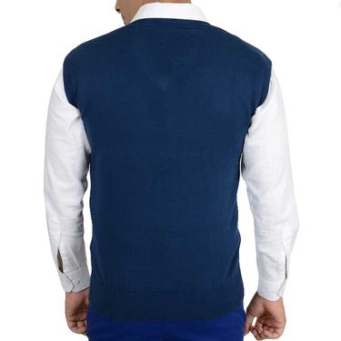 Branded Regular Fit Cotton Sweater_Os13 - Navy Blue