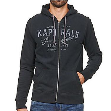 Branded Regular Fit Cotton Hoods_Os26 - Black