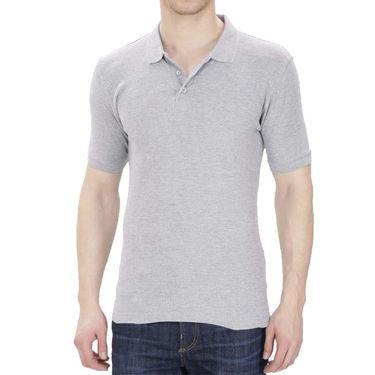 Oh Fish Plain Polo Neck Tshirt_P1gry - Grey