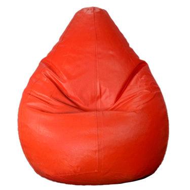 PSYGN Leatherette Standard Bean Bag Cover -  PBB200-RED-XL