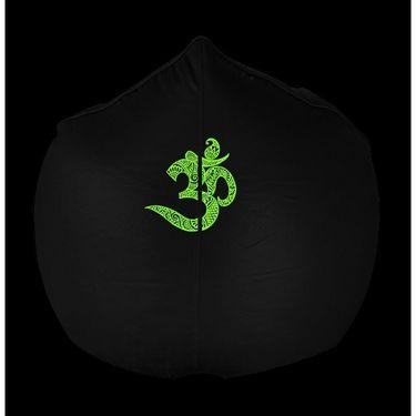 PSYGN Leatherette Sofa Bean Bag Cover -  PBB310-BLACK-XXXL
