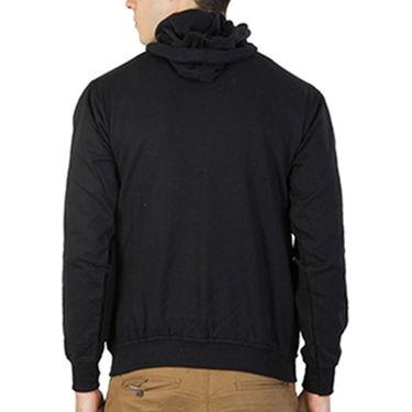 Printland Full Sleeves Cotton Hoodies_Pb1085 - Black