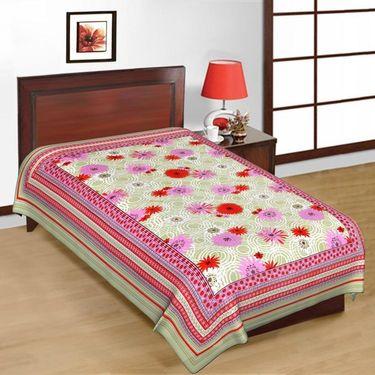 6 Cotton Single Bedsheets with Jaipuri Sanganeri Print-PF102