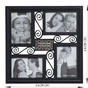 Black Square Collage Photoframe to Hold Moments