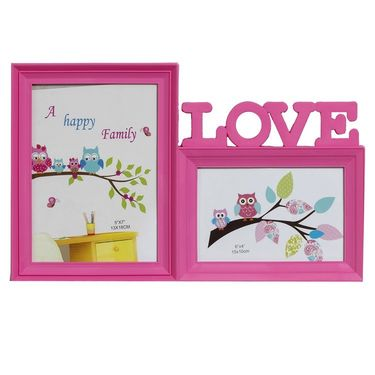 Pinkish Love 2 Pictures Collage Photo Frame