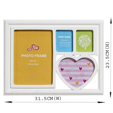 Sweet White 4 Pictures Collage Photo Frame