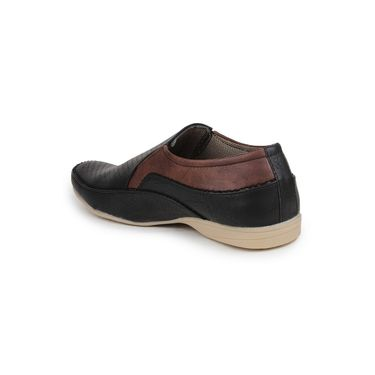 Pede Milan Synthetic Leather Black Casual Shoes -pde53