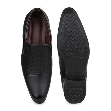 Pede Milan Synthetic Leather Black Formal Shoes -pde51