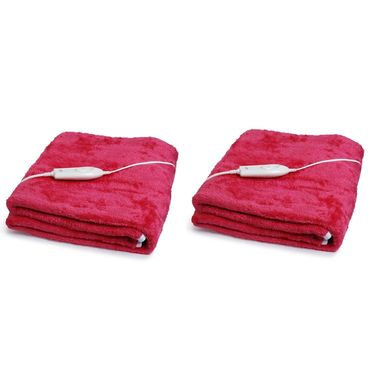 Set of 2 Expressions Mink Electric Single Blankets-POLAR104SB