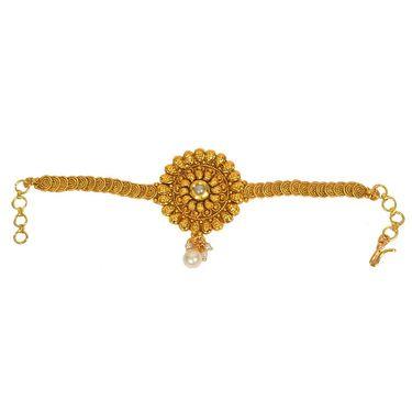 Pourni Stylish Brass Bajuband_Prbb02 - Golden
