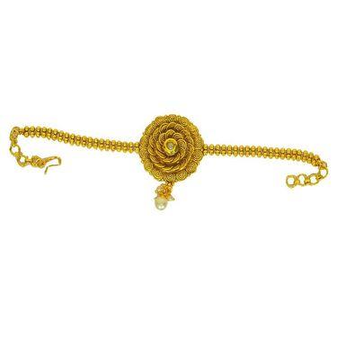 Pourni Stylish Brass Bajuband_Prbb04 - Golden