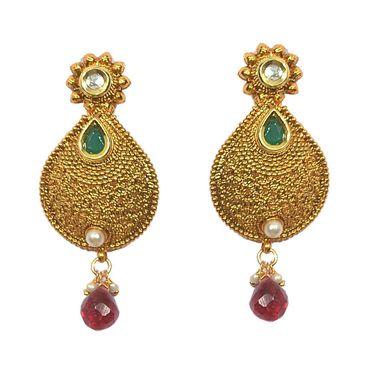 Pourni Polki & Color Stone Earring_PRER18
