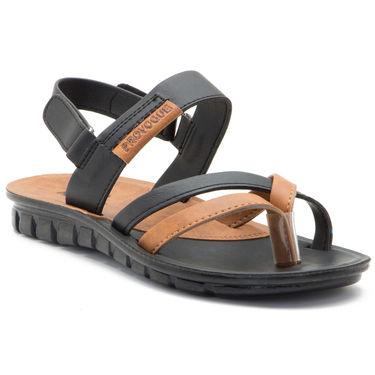Provogue Mens Floater Sandals Pv1109-Black & Tan