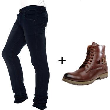 Combo of Stylish Designer Jeans + Designer Boots