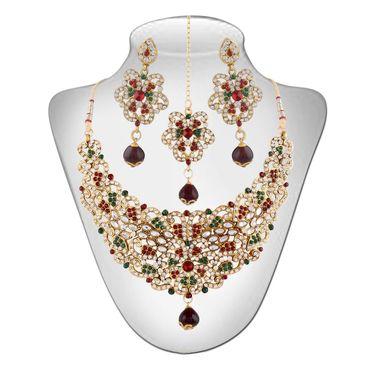 Panini Alloy Necklace Set - Multicolour _ 2886