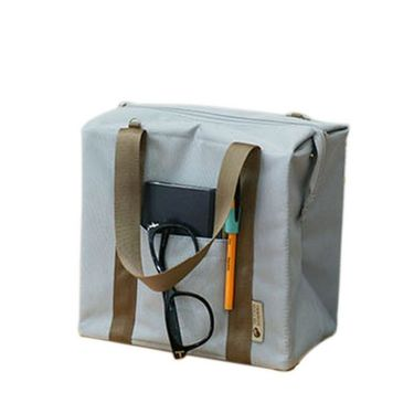 Branded Nylon Travel Organizer Picnic_Bag_Grey