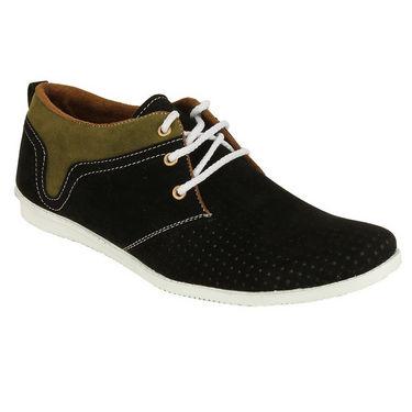 Randier Fox Leather Casual Shoes R062 -Black