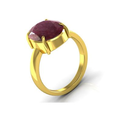 Kiara Jewellery Certified Manek 3.0 cts & 3.25 Ratti Ruby Ring_Rbry