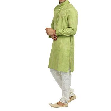 Runako Regular Fit Printed Party Wear Kurta Pyjama For Men_RK4071 - Green