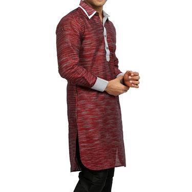 Runako Regular Fit Printed Party Wear Pathani Kurta For Men_RK4099 - Multicolor