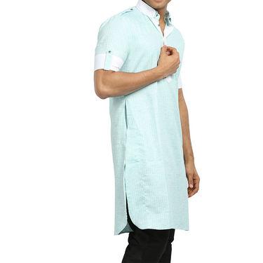 Runako Regular Fit Printed Party Wear Pathani Kurta For Men_RK4113 - Multicolor