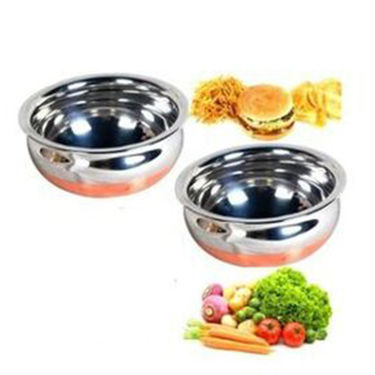 Combo Of Detak 2 Pcs Handi Set + 3 Pcs Oval Tray Set With Sandwich Maker