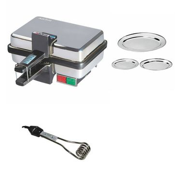 Combo Of Detak 3 Pcs Oval Tray Set & Sandwich Maker
