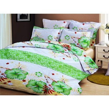Bellamata Multicolor Print 2 Double Bedsheet With 4 Pillow Covers-RMC07