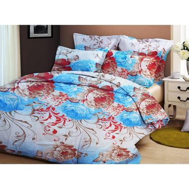 Bellamata Multicolor Print 4 Double Bedsheet With 8 Pillow Covers-RMC15