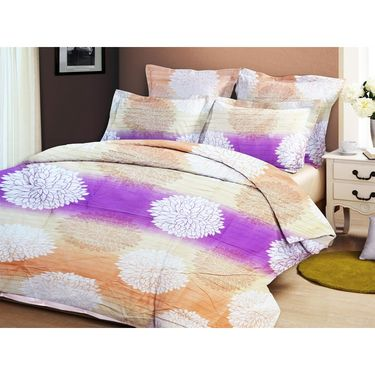 Bellamata Multicolor Print 5 Double Bedsheet With 10 Pillow Covers + Free 1 storage Bag & 1 Folding stool cum storage bag-RMC17