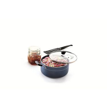 RECON MasterChef Non Stick Casserole with Glass Lid 168mm (1.3ltr)_RMGCR165